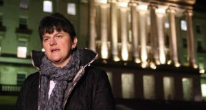 "Northern Ireland's Minister for Enterprise Arlene Foster said she welcomed ""positive signs""  the local economy was improving. Photograph: Paul Faith/PA"