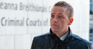 Garda Paul Fogarty at Dublin Circuit Criminal Court yesterday. Photograph:  Collins Courts.