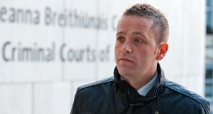 Paul Fogarty arriving at Dublin Circuit Criminal Court today. Photograph: Collins Courts
