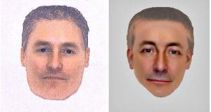 A combination photo shows two e-fit images released by the Metropolitan Police yesterday  of a man they want to identify and trace in connection with their investigation into the disappearance of Madeleine McCann in 2007.  Photograph: Metropolitan Police/Reuters