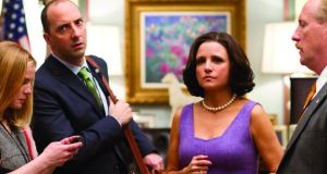 Anna Chlumsky, Tony Hale, Julia Louis-Dreyfus and Matt Walsh in Veep