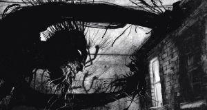 A Monster Calls by Patrick Ness is complemented by arresting black, white and grey images by Jim Kay