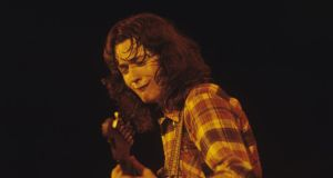 Sounds Irish: Rory Gallagher in the 1970s. Photograph: Fin Costello/Redferns/Getty