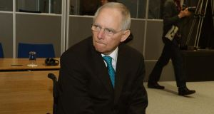 German finance minister Wolfgang Schäuble:  reiterated Berlin's staunch opposition to using the fund to directly recapitalise banks retrospectively. Photograph: David Sleator
