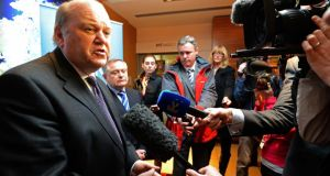"Minister for Finance Michael Noonan: ""We [are] still in a position to negotiate support from Europe so our debt can move down towards the European average."" Photograph: Eric Luke"
