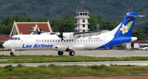 A Lao Airlines ATR-72 aircraft similar to that which crashed yesterday en route from the Lao capital Vientiane to Pakse in the south.