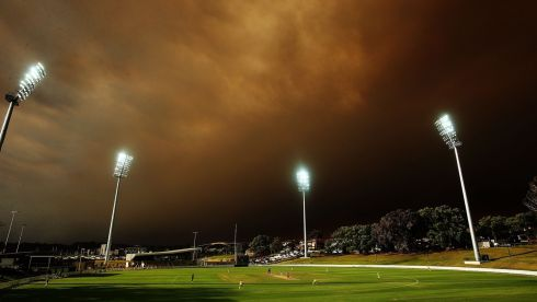 Darkly ominous: how the sky looked during the Ryobi Cup cricket match between the South Australian Redbacks and the Western Australia Warriors at Drummoyne Oval on October 17th, 2013 in Sydney. Photograph: Mark Metcalfe/Getty Images