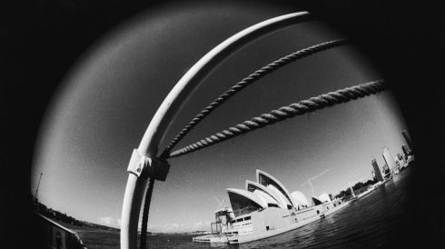October 20th, 2013, marks 40 years since the iconic Sydney Opera House was opened. In this image, 10 years after construction began, the work reaches its final stages on June 26th, 1969. Photograph: Keystone/Hulton Archive/Getty Images