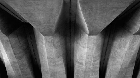 Structual detail underneath the forecourt staircase. Photograph: Cameron Spencer/Getty Images