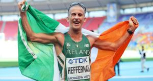 "If Rob Heffernan didn't deliver in 2013, he was ""back on the dole"", the reality he reckons most elite Irish athletes face. Photograph: Inpho"