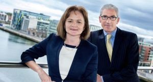 Carmel O'Connor, PwC partner, with Ruairí Cosgrove, entity governance and compliance director with PwC