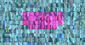 Sexual divide: of the 200-plus speakers at the Web Summit, above, only 26 are women. Photographs: Websummit.net. Montage: Michael Ruane, Irish Times Premedia