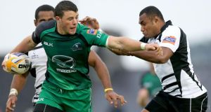 Robbie Henshaw's play today against Zebre at 13 could have ramifications for Ireland. Photograph: James Crombie/Inpho