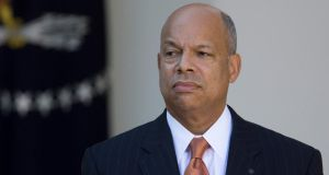 US president Barack Obama has named former Pentagon attorney Jeh Johnson to run the Department of Homeland Security. Photograph: Andrew Harrer/ Bloomberg