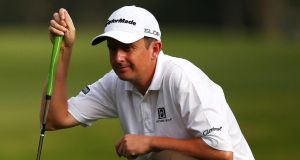 Peter Lawrie finish 109th in the Race to Dubai rankings after an anxious few weeks. Photograph: Matt King/Getty Images