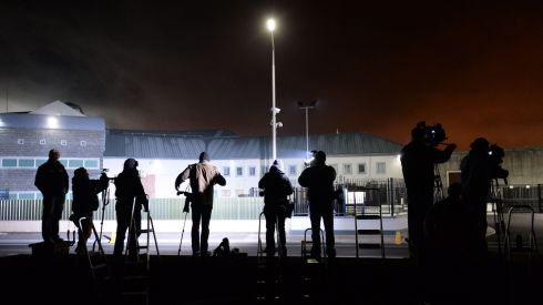 In this gallery we  present a selection of some of  our favourite Irish Times photos from the last week. On Tuesday evening Irish Times photographer Alan Betson was one of the many media who gathered overnight outside Portlaoise Prison to try and capture the moment when John Gilligan was released. This image was taken of some of the assembled media in the wee hours of Wednesday morning.Photo: Alan Betson / THE IRISH TIMES