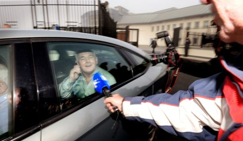 John Gilligan is  released from Portlaoise Prison on Wednesday morning . Photo: Alan Betson / THE IRISH TIMES