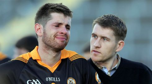 Barry Shanahan of Austin Stacks dejected after defeat by Dr Crokes of Killarney following the Kerry County Senior Club Football Championship Final, Fitzgerald Stadium, Killarney.Photo : Donall Farmer / INPHO