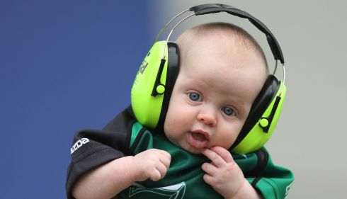 Connacht fan Tiernan Brennan 3 1/2 months old at the Zebre  Heineken Cup clash , Stadio XXV Aprile, Parma. Photo : James Crombie / INPHO