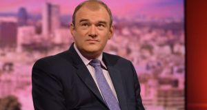 Britain's energy secretary Ed Davey MP: An Taisce is challenging the  legality of the permission he granted for a new nuclear power station in Somerset. Photograph: Jeff Overs/BBC via Getty Images.