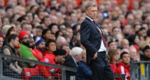 Manchester United manager David Moyes during Saturday's  match against Southampton at Old Trafford.