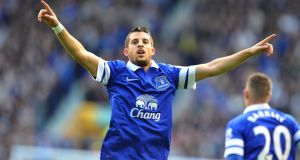 Everton's Kevin Mirallas enjoying life under Roberto Martinez. Photograph: Dave Howarth/PA Wire