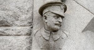 A granite memento of the DMP at Pearse Street Garda station. Photograph: Frank Miller