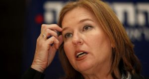 Justice minister Tzipi Livni, Israel's chief negotiator in the peace talks, vowed to fight the move and appeal the decision within the full cabinet. Photograph: Gali Tibbon/Getty