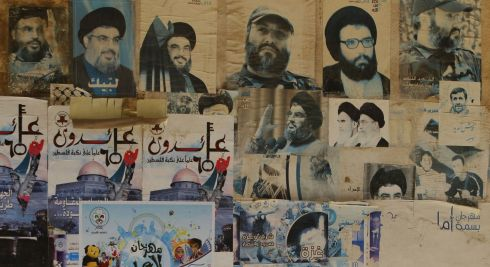 A general view of posters in the Badawi refugee camp in Lebanon. Scottish Catholic International Aid fund has been providing aid  via its international partners Caritas since December last year. Photograp: Danny Lawson/PA Wire