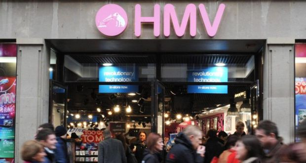 HMV said its iOS and Android apps have been downloaded more than 10,000 times, but the iOS version has been suspended from Apple's store. Photograph: Anna Gowthorpe/PA Wire