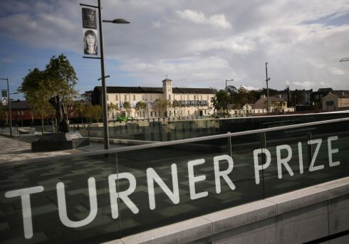 Ebrington Square in Derry, the venue of the 2013 Turner Prize.  It is the first time the prize, which is in its 29th year, has left England. The winner will be announced on December 2nd. Photograph:  Dan Kitwood/Getty Images