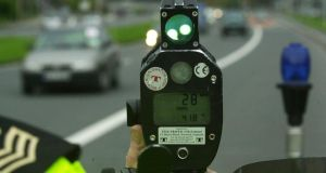 A Garda speed camera. There is a huge disparity between different areas of the country in the imposition of penalty points for people convicted of driving offences. Photograph: Cyril Byrne
