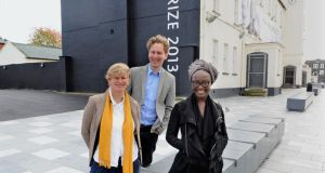 Turner Prize nominees Laure Prouvost, David Shrigley and Lynette Yiadom-Boakye. Photograph: Trevor McBride