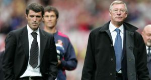 Roy Keane (left) and former Manchester United manager Alex Ferguson. Photograph: PA Wire