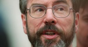 "Sinn Féin's Gerry Adams: railed against the ""awful, spiteful, shameful, sleekit"" measures"