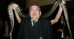 Rala O'Reilly gets a bit too close to a snake for comfort during Ireland's 2003 Rugby World Cup campaign in Australia. Photograph: Billy Stickland/Inpho