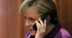 Germany's Chancellor Angela Merkel. The German government has obtained information that the United States may have monitored her  mobile phone. Photograph: Yves Herman/Reuters