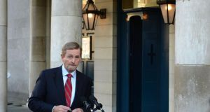 Taoiseach Enda Kenny said the House's fate had been decided. Photograph: Dara Mac Dónaill