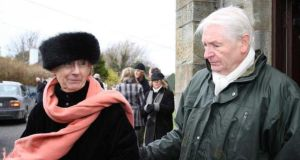 Sophie's parents, Georges and Marguerite Bouniol, at a memorial mass for her in Goleen, West Cork. Photograph: Provision