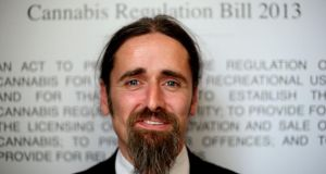 Independent TD Luke Ming Flanagan at a press conference in Buswells Hotel, Molesworth Street, Dublin, where he claimed decriminalising cannabis could save Ireland hundreds of million euro. Photograph: Brian Lawless/PA Wire