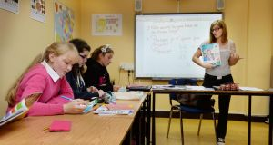 Language class: Perrine Verniers teaches students at the Alliance Française in Dublin. Photograph: Alan Betson