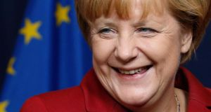 Among Group of 20 economies, Germany, where Angela Merkel won a third term as chancellor, ranked highest at 14th in the Global Gender Gap Report from the Global Economic Forum. Photograph: Francois Lenoir/reuters