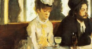 The Absinthe Drinker by Degas, which depicts the Cafe Nouvelle Athènes