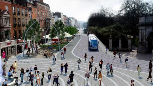 Artist's impression of how St Stephen's Green North would look under the plan.