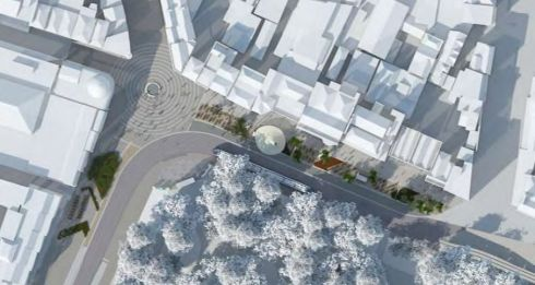 Aeriel view of how St Stephen's Green North would look under the plan. (Artist's impression)