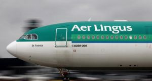 Aer Lingus shed 4 cent before settling at €1.399. Photograph: Tim Boyle/Bloomberg