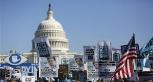 Protesters marched on Washington over US spying revelations