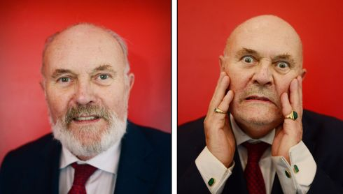 Also on Tuesday Senator David Norris had his beard shaved off live on radion on the Ray D'Arcy show on Today FM. He had promised listeners he would shave it if the public voted against the abolition of the Seanad. He wore the beard for 40 years and the shaving was part of a fundraising effort which goes towards the station's Shave or Dye campaign in aid of the Irish Cancer Society.  Photograph: Bryan O'Brien / The Irish Times