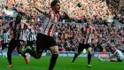 Sunderland's Fabio Borini  celebrates his late winner against Newcastle.