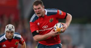 Donnacha Ryan: The Munster lock's contract expires at the end of the season.  Photograph: Billy Stickland/Inpho